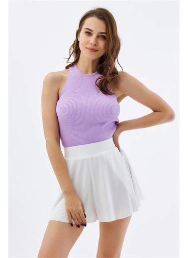 Pattaya Pattaya Kadın Mini Örme Şort Etek P21S201-2145 Renkli